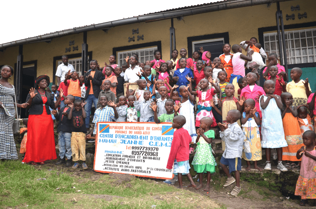 Children who are being cared for in Maman Jeanne Banyere's center.