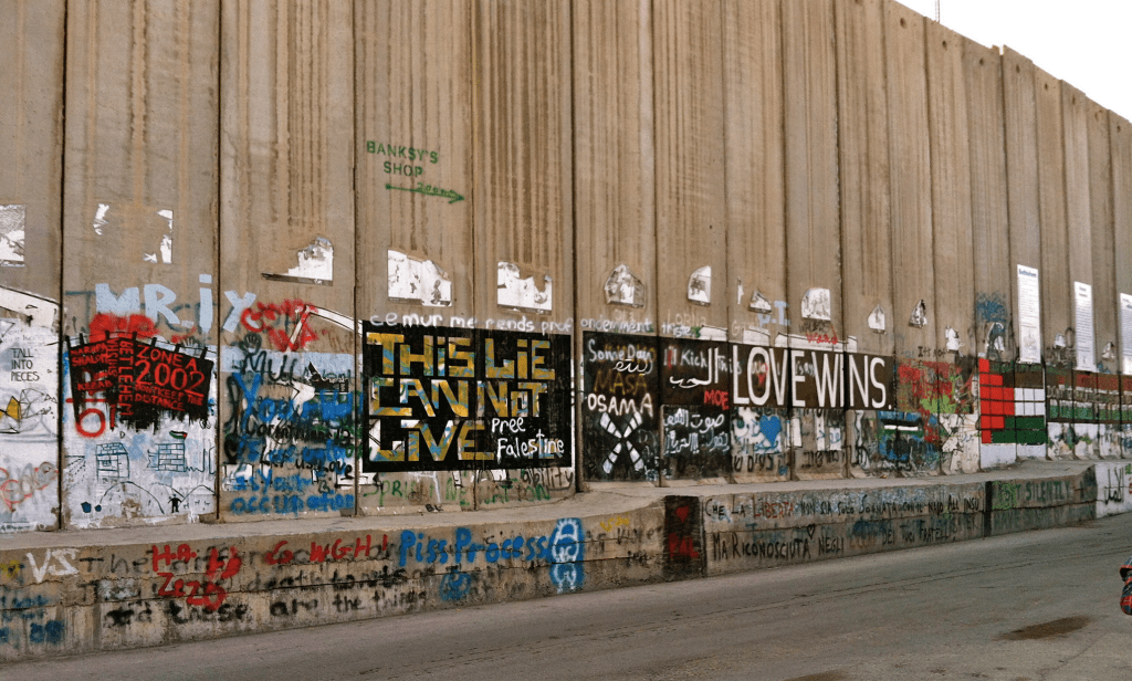The Occupation Wall in Bethlehem.
